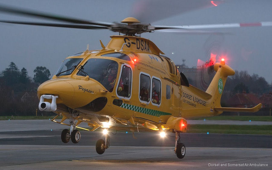 Leonardo Helicopters in Yeovil host January 11 the Pegasus Naming Ceremony of new AW169 for the Dorset and Somerset Air Ambulance