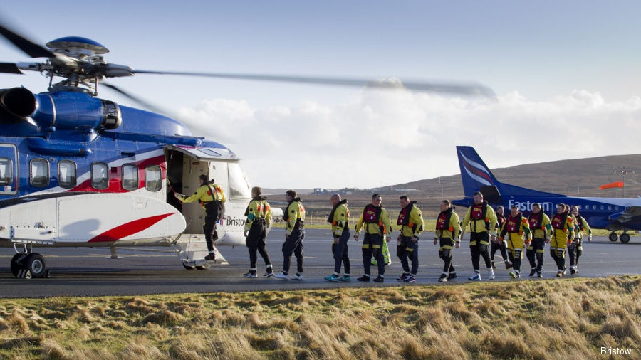Bristow in partnership with Eastern Airways to provide offshore transport to TAQA in the East Shetland basin with Sikorsky S-92 and Saab 2000 aircraft