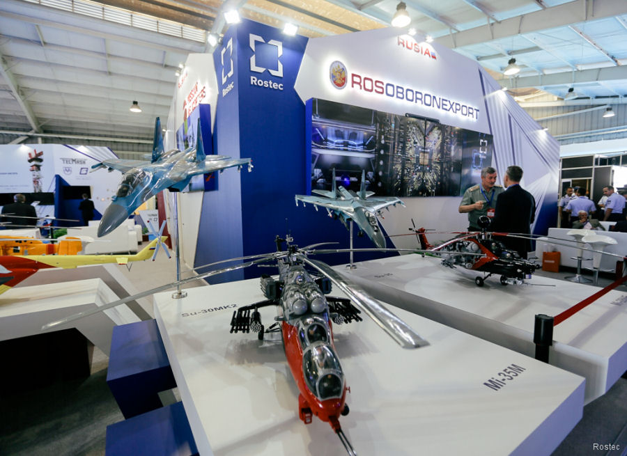 Rosoboronexport, the state-owned arms trade company of Russia, is present at FIDAE 2018, Santiago, Chile, April 3-8