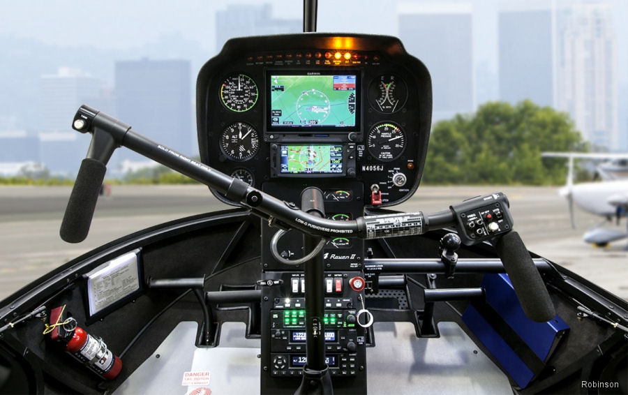 Garmin's new G500H TXi displays cockpits are now available for the Robinson R44 and R66 helicopters.