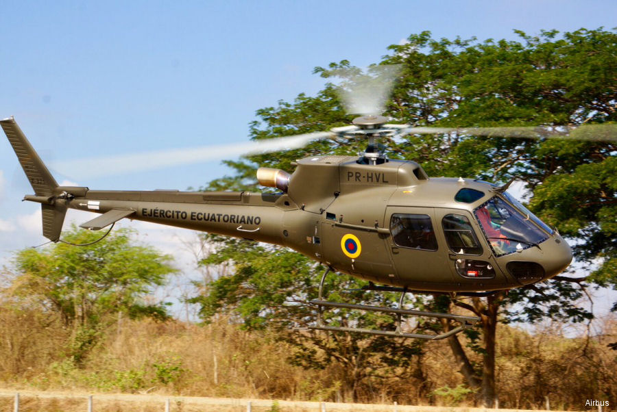 Mexican Airbus branch delivered a new AS350B3e / H125 customized by Helibras (Brazilian Airbus subsidiary) to the Army of Ecuador. A second one expected for this year. H215 and H145 offered.