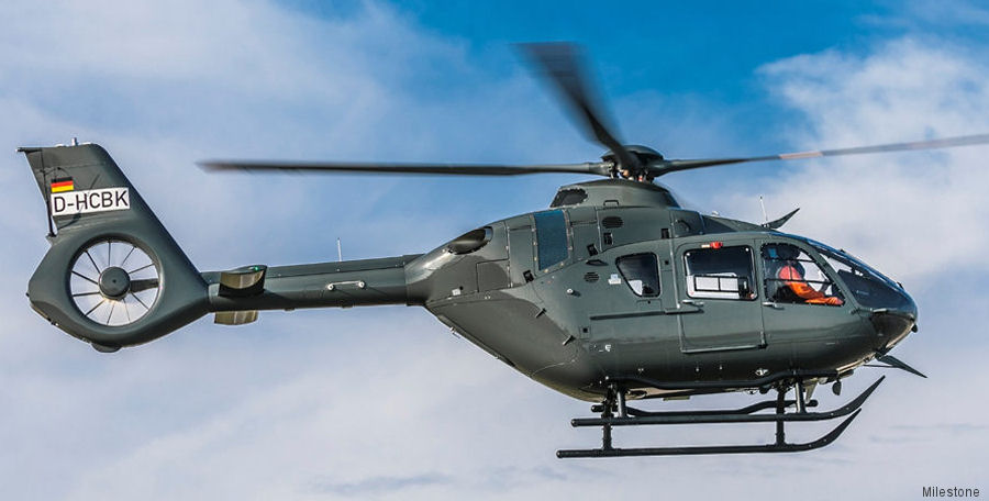 ADAC leased 4 new H135/EC135T3 from Milestone for the German Army Aviation School