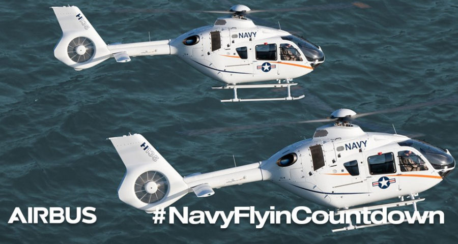 H135 at the US Navy Fleet Fly-In Event