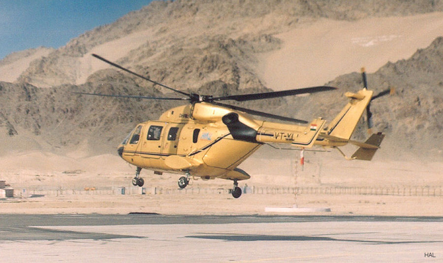 Under the Government's 'Make-in-India' initiative, HAL offering the  civil version of the Dhruv to be produced, marketed and supported by an Indian company partner