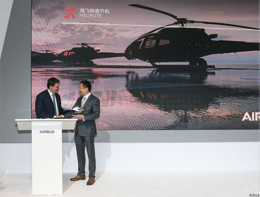 Heliflite China signed for 7 H125 and 3 H130. Based in Xian has been accredited as an official Airbus Helicopters distributor in the region