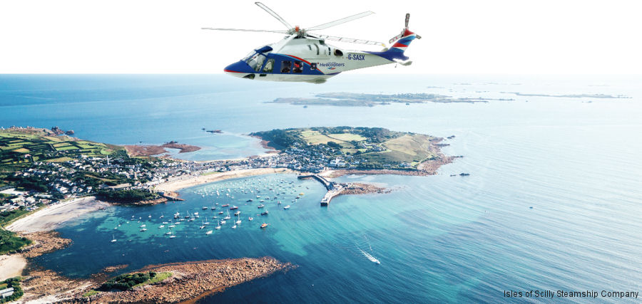 New AW169 Helicopter Service for Isles of Scilly