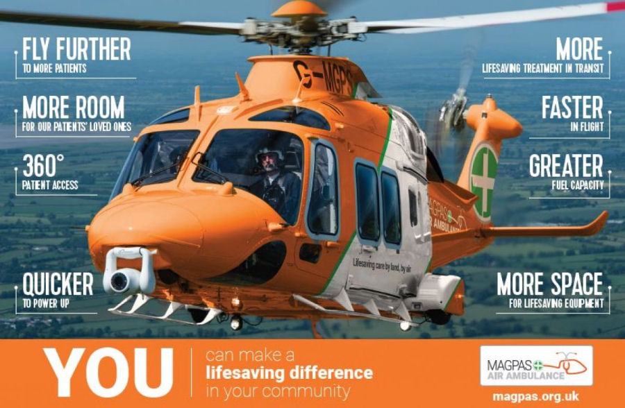 Magpas Heli Appeal for New AW169 Helicopter