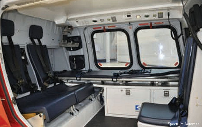 Spectrum Aeromed completed production Amendment for the AgustaWestland AW109SP supplemental type certificate (STC) with a lightweight air ambulance interior