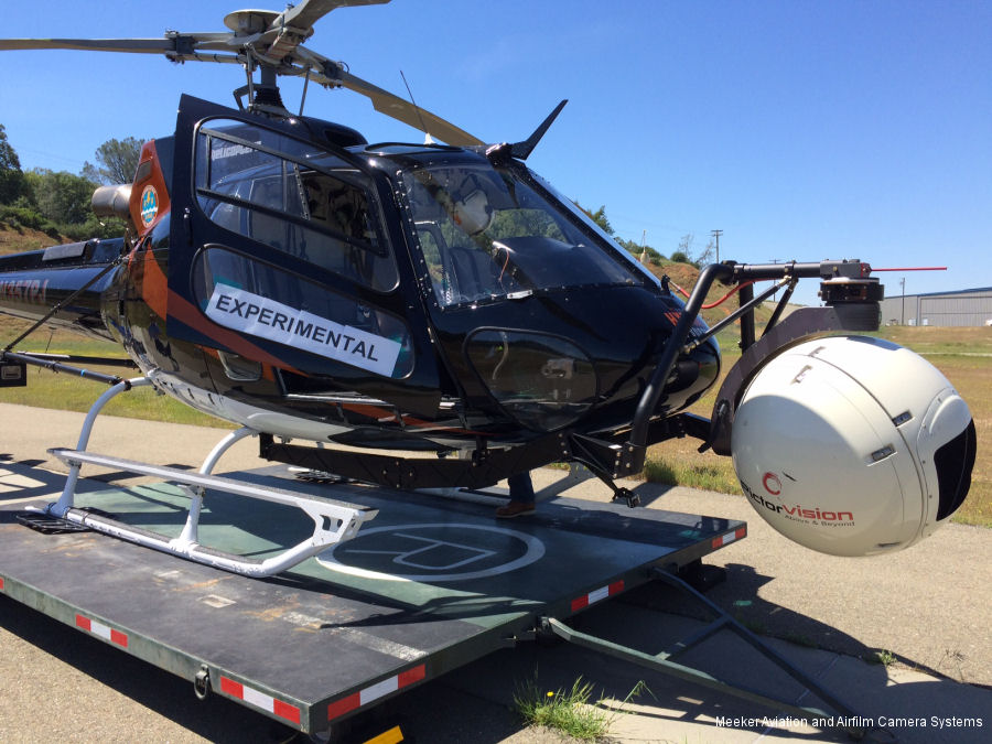 Meeker-Airfilm received FAA STC for the upgraded AFSP-V2 single and dual pole mount for the AS350/AS355/H125