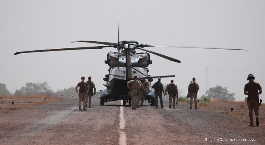 The Belgian NH90 helicopters arrived in Mali where will be used to support the German contingent in Gao part of the United Nations MINUSMA peacekeeping mission
