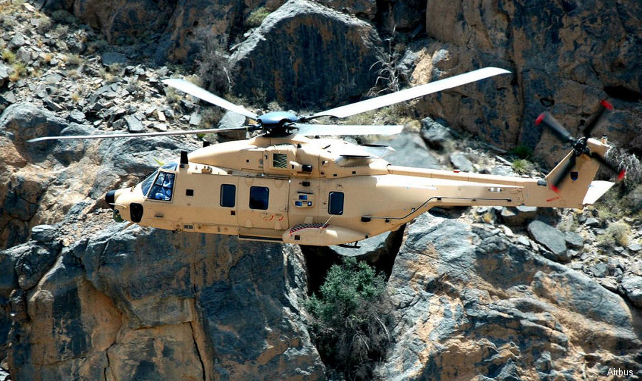 Qatar purchased 16 NH90 TTH (Airbus), 12 NH90 NFH (Leonardo) and 16 H125 during DIMDEX 2018 in Doha. Deliveries scheduled 2022-2025. 350 NH90 already delivered to 13 countries