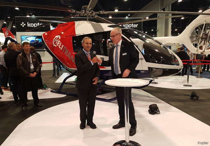 Hawaii' Paradise Helicopters orders 4 Kopter (ex Marenco Marenco SwissHelicopter) SH09. FAA certification expected by end 2019