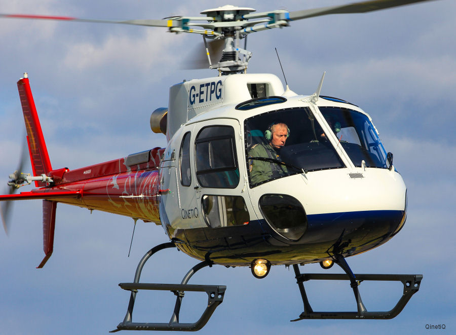 QinetiQ's first H125 / AS350B3e in the new UK MoD Empire Test Pilots School (ETPS) livery arrived at MoD Boscombe Down
