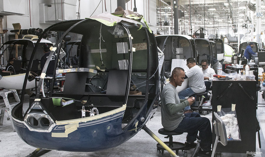 Robinson Produced 305 Helicopters in 2017