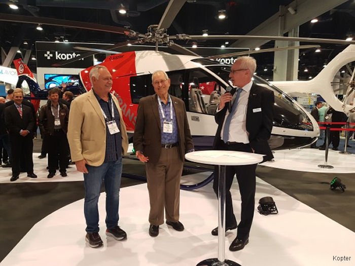 Rainier International Inc signed for 5 SH09 plus 5 options during Heli-Expo 2018
