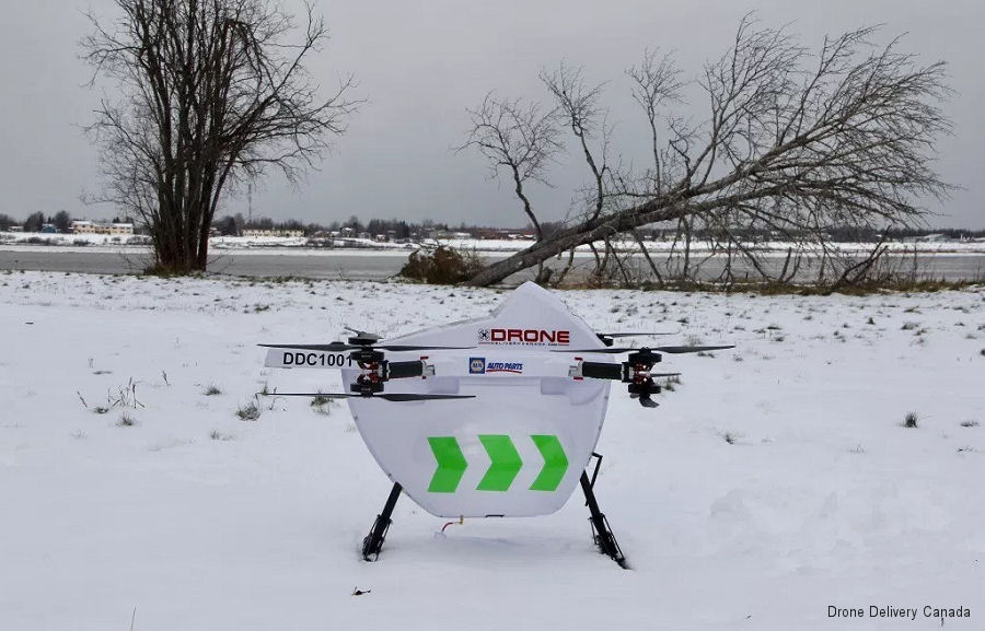 Drone Delivery Canada (DDC) will test its Sparrow X1000 cargo drone  at the New York Griffiss International Airport UAS Test Site, New York in Q1 2018