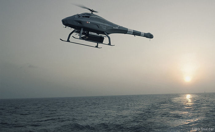 UMS Skeldar partnered with ESG wins contract to deploy V-200B drones from the  K 130 Braunschweig corvette class from 2019; package focused on pioneering NATO-compliant heavy fuel engine rotary VTOL (Vertical Take-Off and Landing) UAVs (Unmanned Aerial Vehicles) and at-sea training
