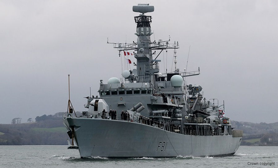 Royal Navy type 23 frigate HMS Sutherland departed from Plymouth for a 7 months long mission to Australia, the Far East and the Gulf region. Is the first Wildcat HMA2 deployment to the region