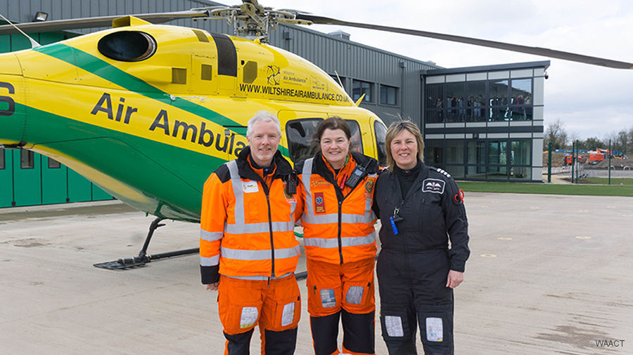 Wiltshire Air Ambulance Lands at Semington