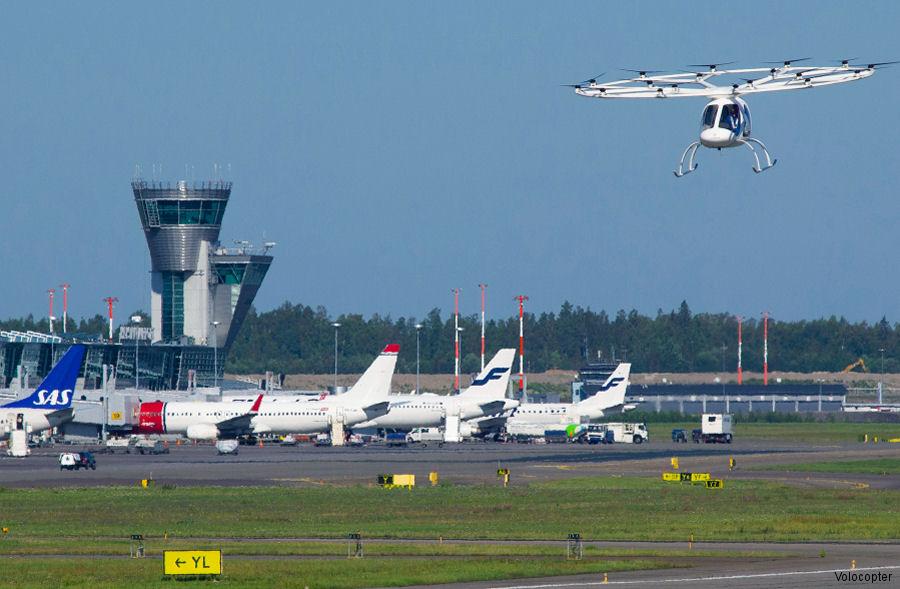 Volocopter Demonstration at Helsinki Airport