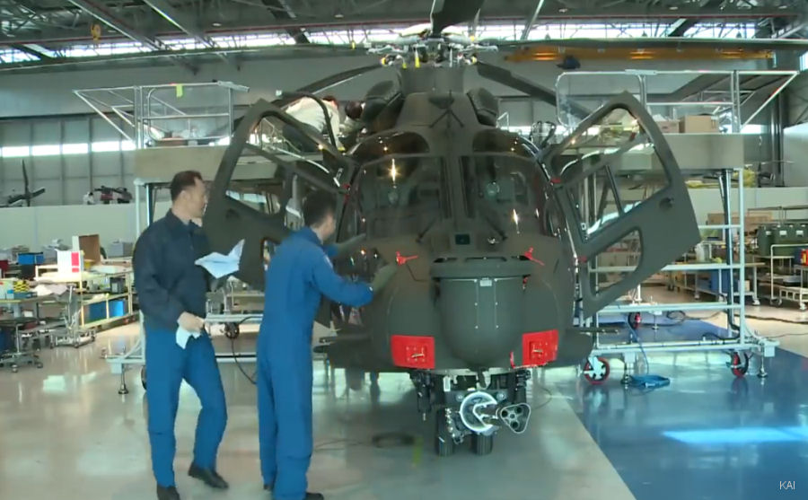 South Korea'  future combat helicopter, the KAI LAH based on the Airbus H155, completed first engine run