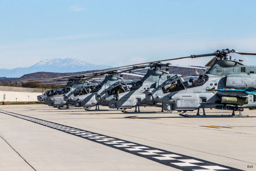 Twelve Bell AH-1Z Viper gunship helicopters from USMC' Marine Aircraft Group 39 (MAG-39) out of Camp Pendleton took part of exercise Viper Storm
