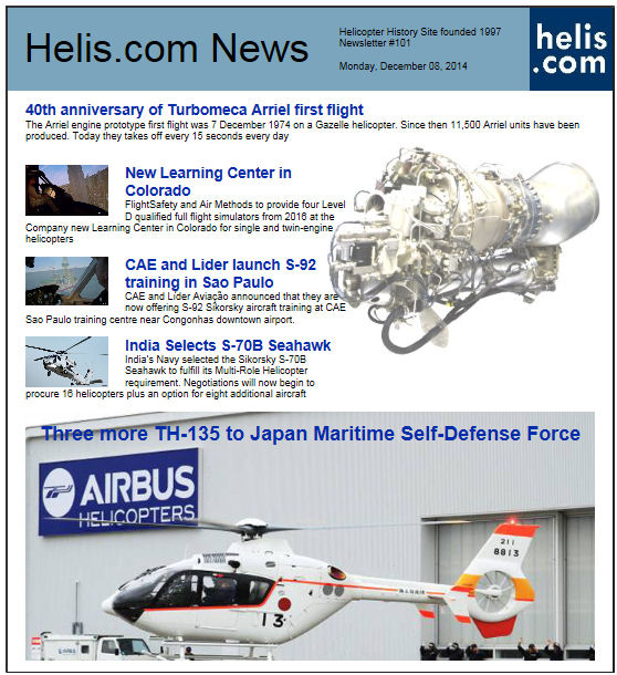 Helicopter News December 08, 2014 by Helis.com