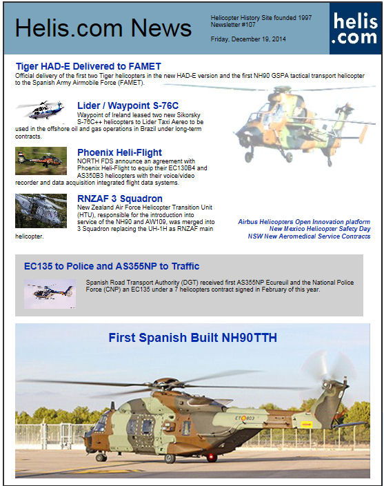 Helicopter News December 19, 2014 by Helis.com