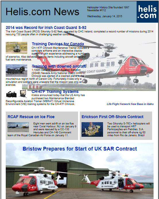 Helicopter News January 14, 2015 by Helis.com