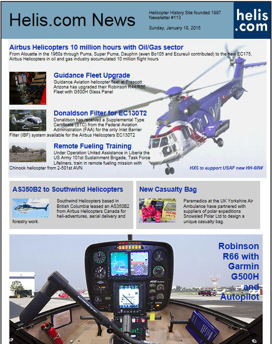 Helicopter News January 18, 2015 by Helis.com