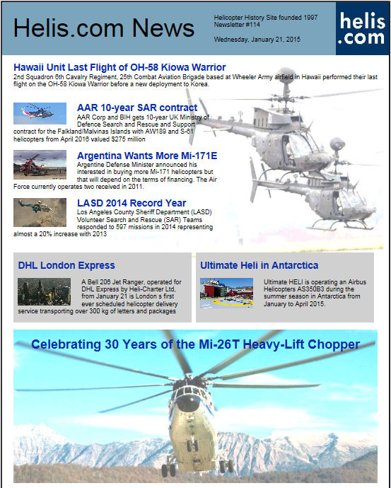 Helicopter News January 21, 2015 by Helis.com