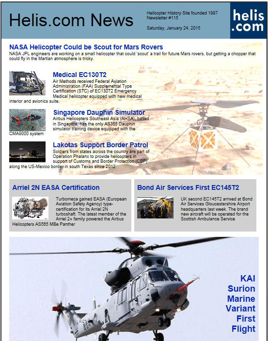 Helicopter News January 24, 2015 by Helis.com