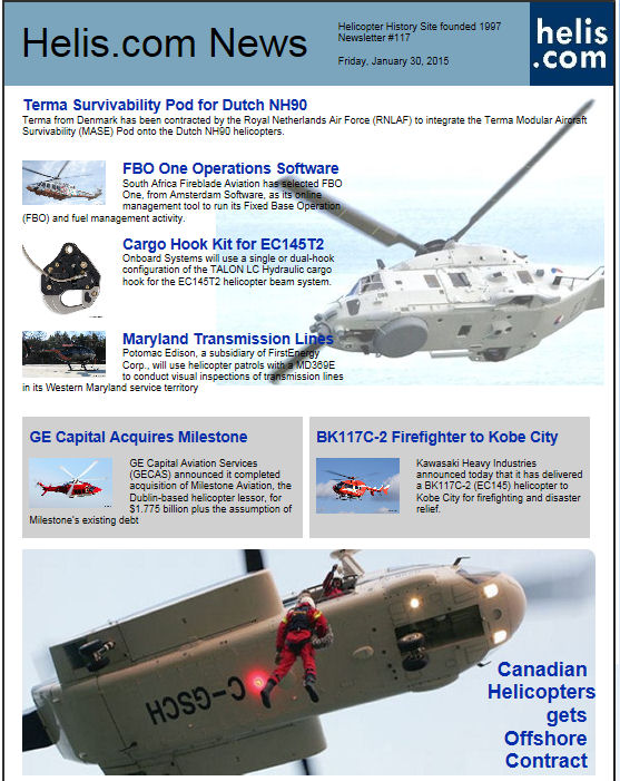 Helicopter News January 30, 2015 by Helis.com