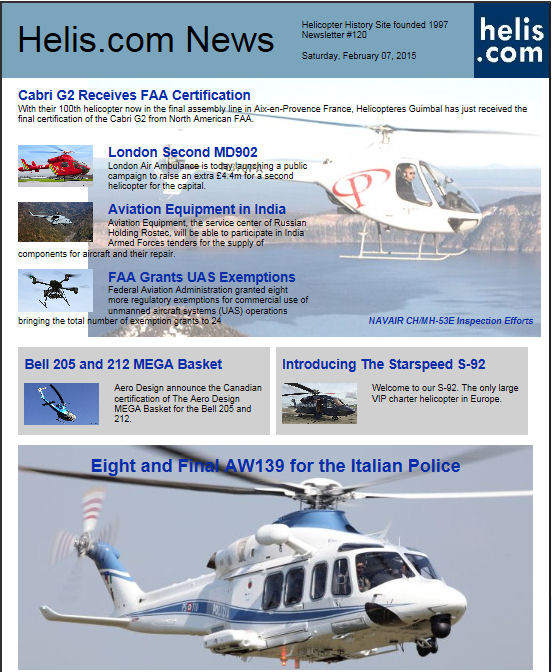 Helicopter News February 07, 2015 by Helis.com
