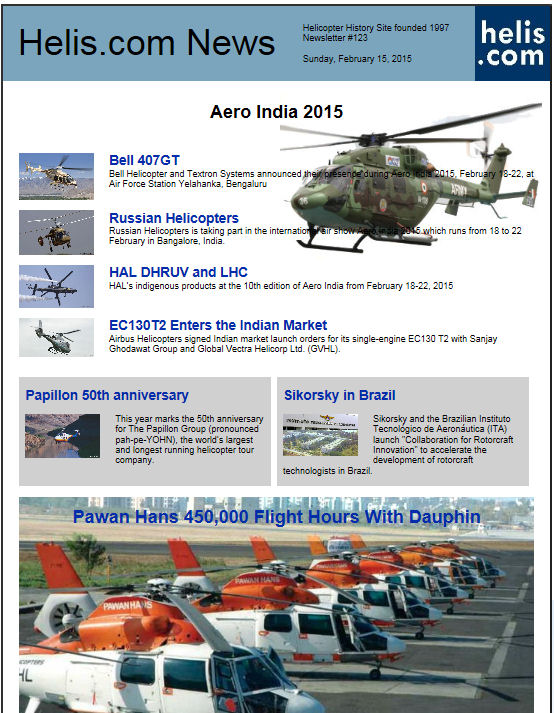 Helicopter News February 13, 2015 by Helis.com
