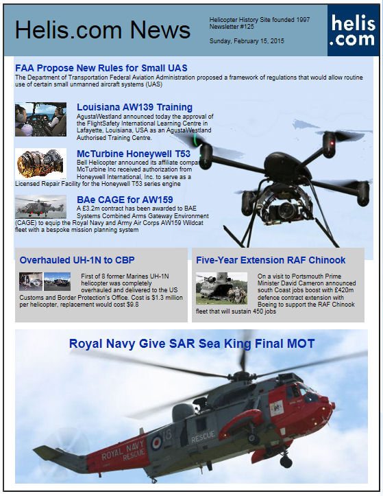 Helicopter News February 15, 2015 by Helis.com