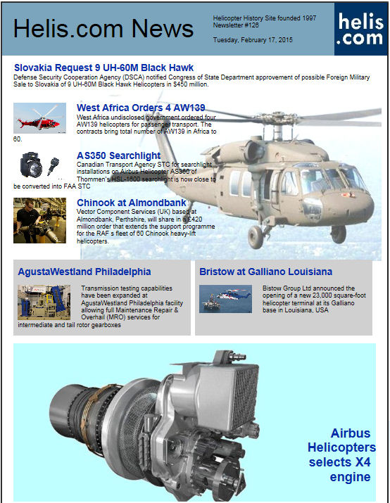 Helicopter News February 17, 2015 by Helis.com
