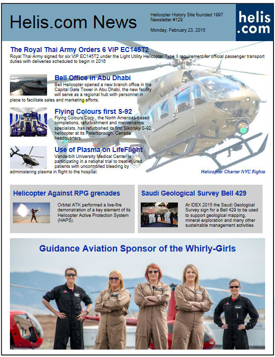 Helicopter News February 23, 2015 by Helis.com