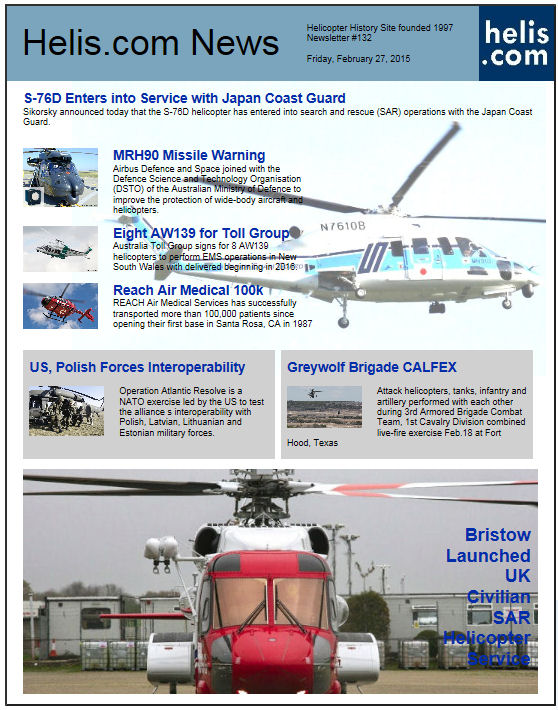 Helicopter News February 27, 2015 by Helis.com