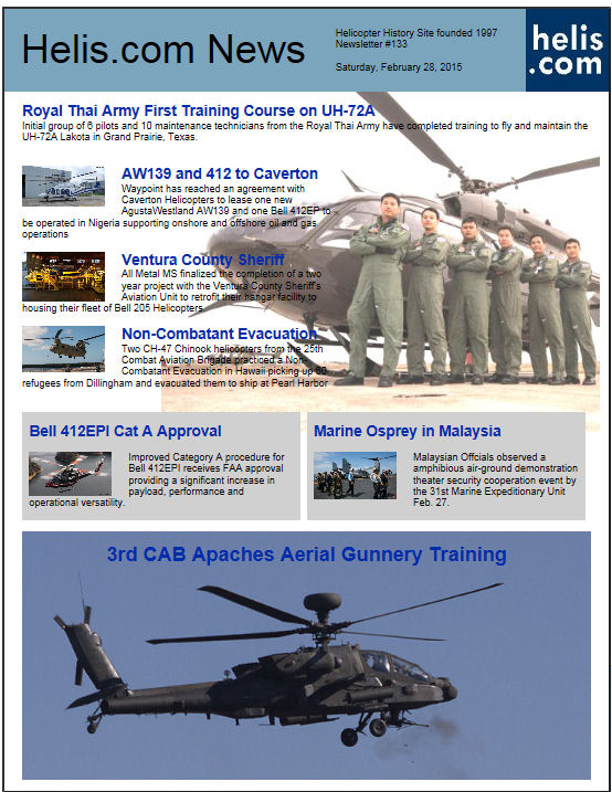 Helicopter News February 28, 2015 by Helis.com