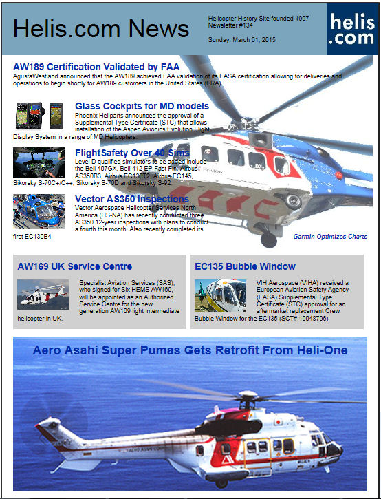 Helicopter News March 01, 2015 by Helis.com