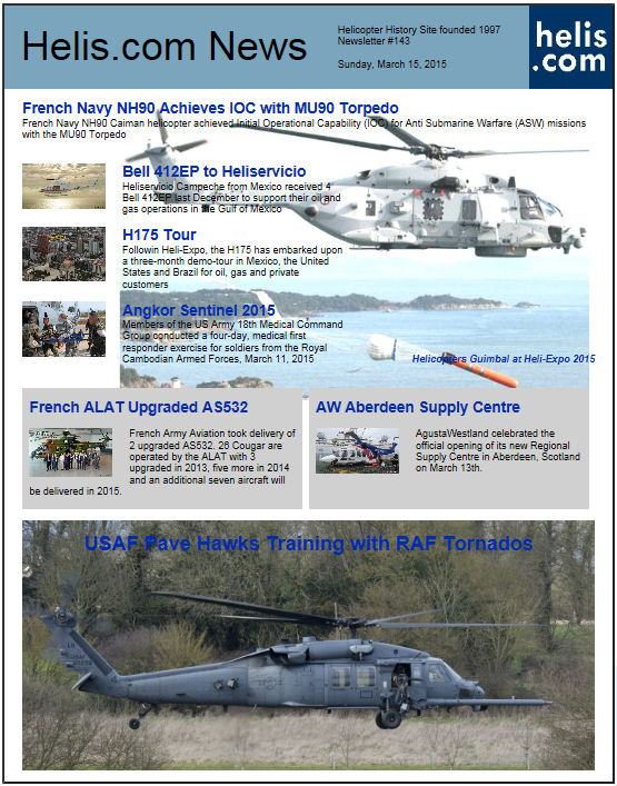 Helicopter News March 15, 2015 by Helis.com