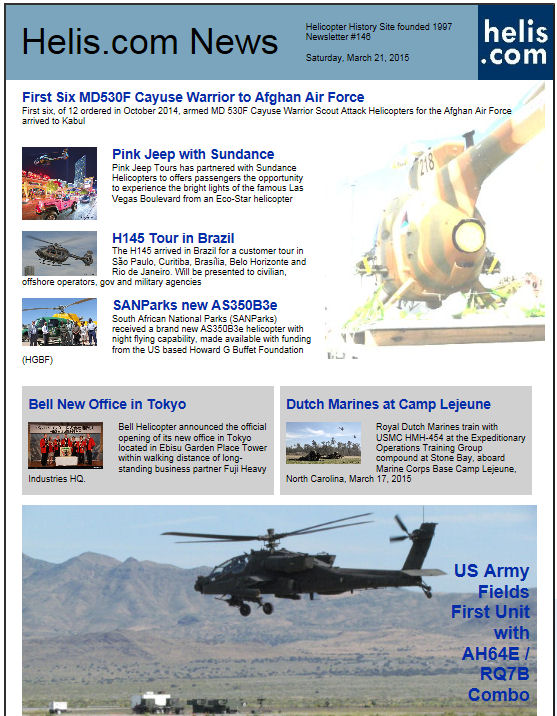 Helicopter News March 21, 2015 by Helis.com