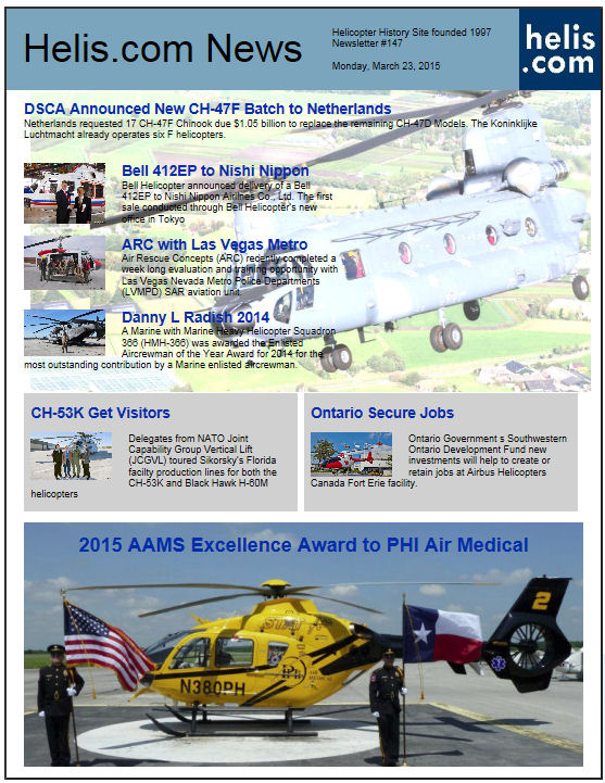 Helicopter News March 23, 2015 by Helis.com