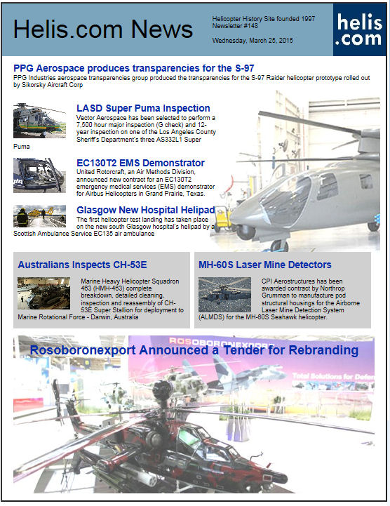 Helicopter News March 25, 2015 by Helis.com