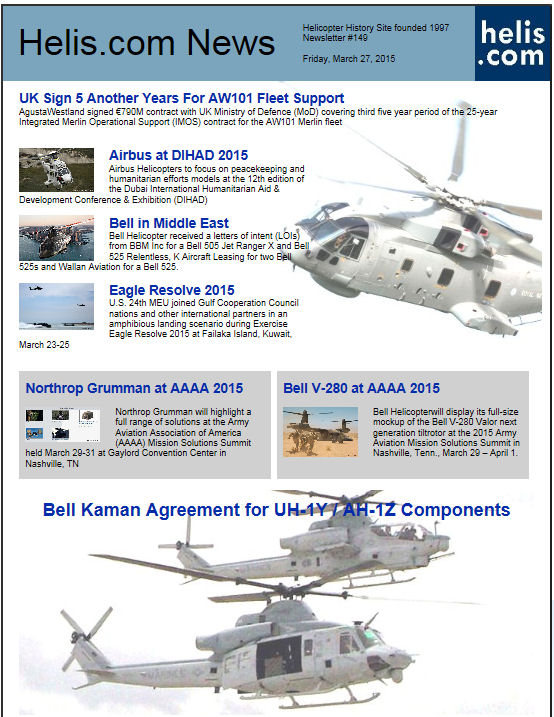 Helicopter News March 27, 2015 by Helis.com