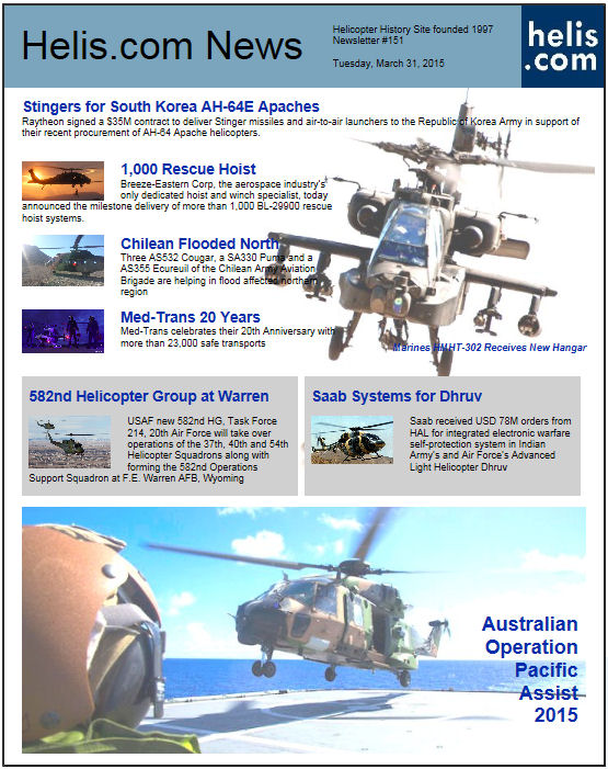 Helicopter News March 31, 2015 by Helis.com