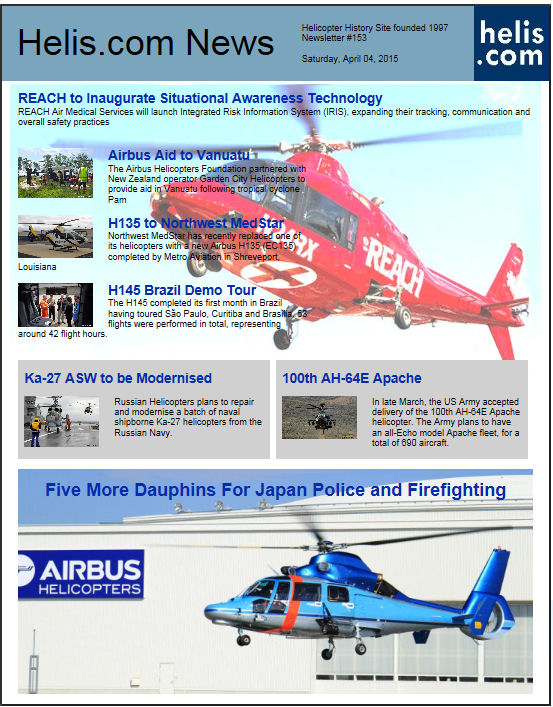 Helicopter News April 04, 2015 by Helis.com