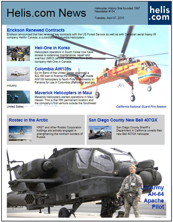 Helicopter News April 07, 2015 by Helis.com