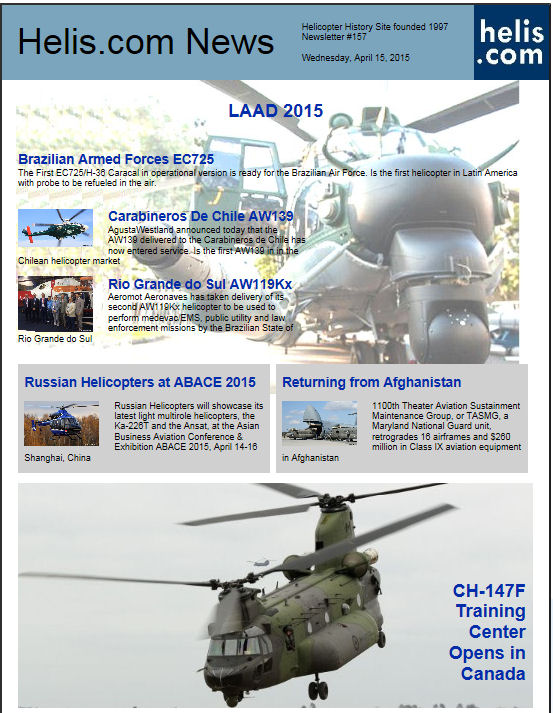 Helicopter News April 15, 2015 by Helis.com